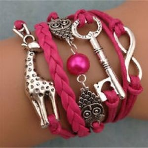 Jewelry - Leather Animal and Infinity Bracelet in women